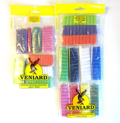 Mixed pack of 11 colours choice of size 110 per pack Booby Eyes for Fly Tying