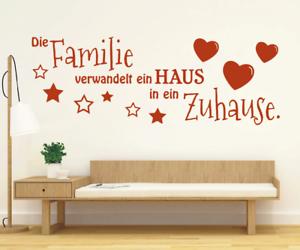 X4529-Wandtattoo-Spruch-Die-Familie-Haus-Zuhause-Sticker-Wandaufkleber-Aufkleber