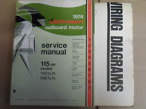 1974 Johnson Outboards Service Manual 115 HP & Outboard ...