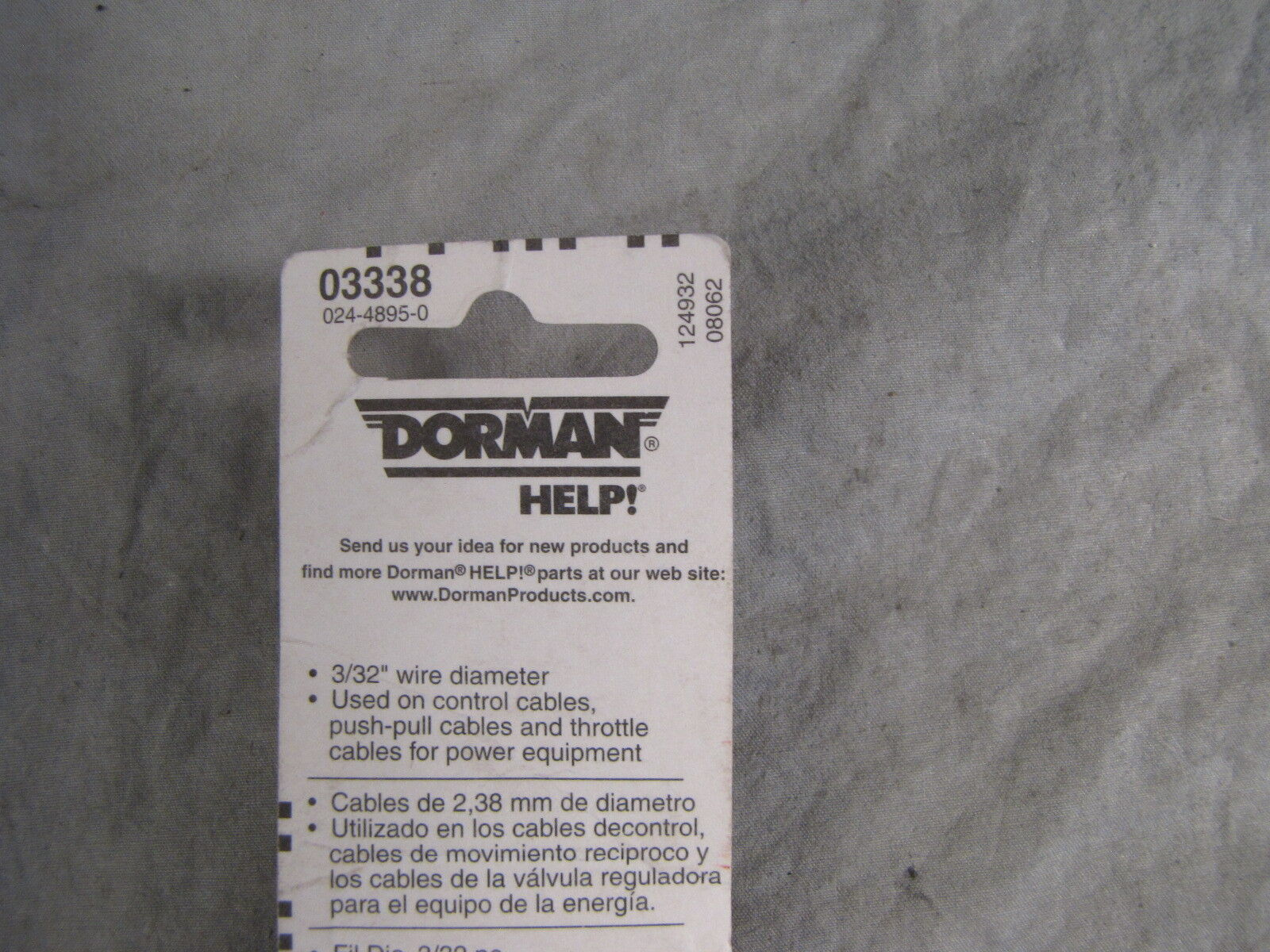 Dorman 03338 Cable Stop 3//32 In Pack of 2
