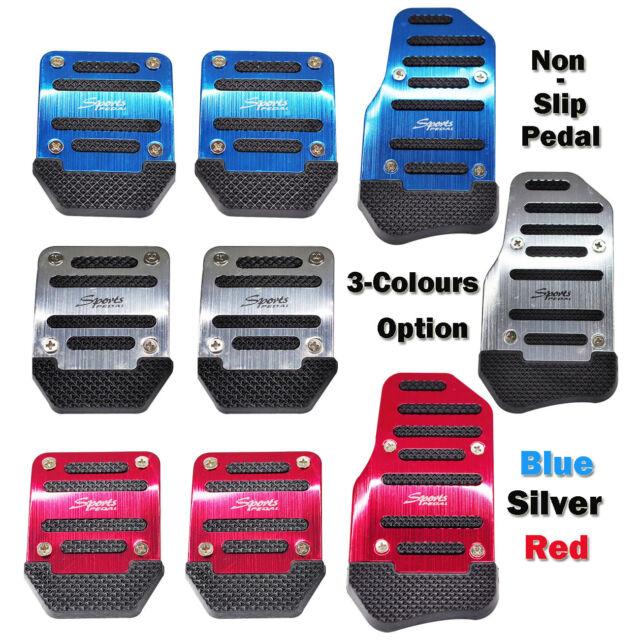 New Non Slip Sports Aluminium Alloy Manual Car Pedals Covers Set 3 Colors Option
