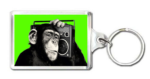 THE CHIMP BOOMBOX KEYRING LLAVERO