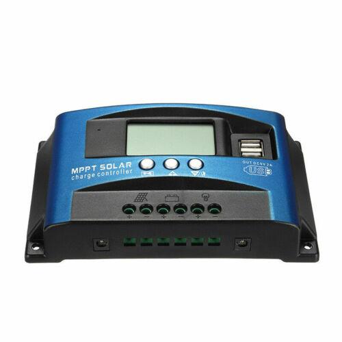 100A MPPT Solar Panel Regulator Charge Controller 12V//24V Auto Focus Tracking