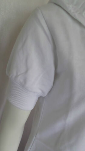 Longjacke Sweatjacke mit Kapuze Kapuzenjacke Weiß Baumwolle  Gr.M NEU OVP
