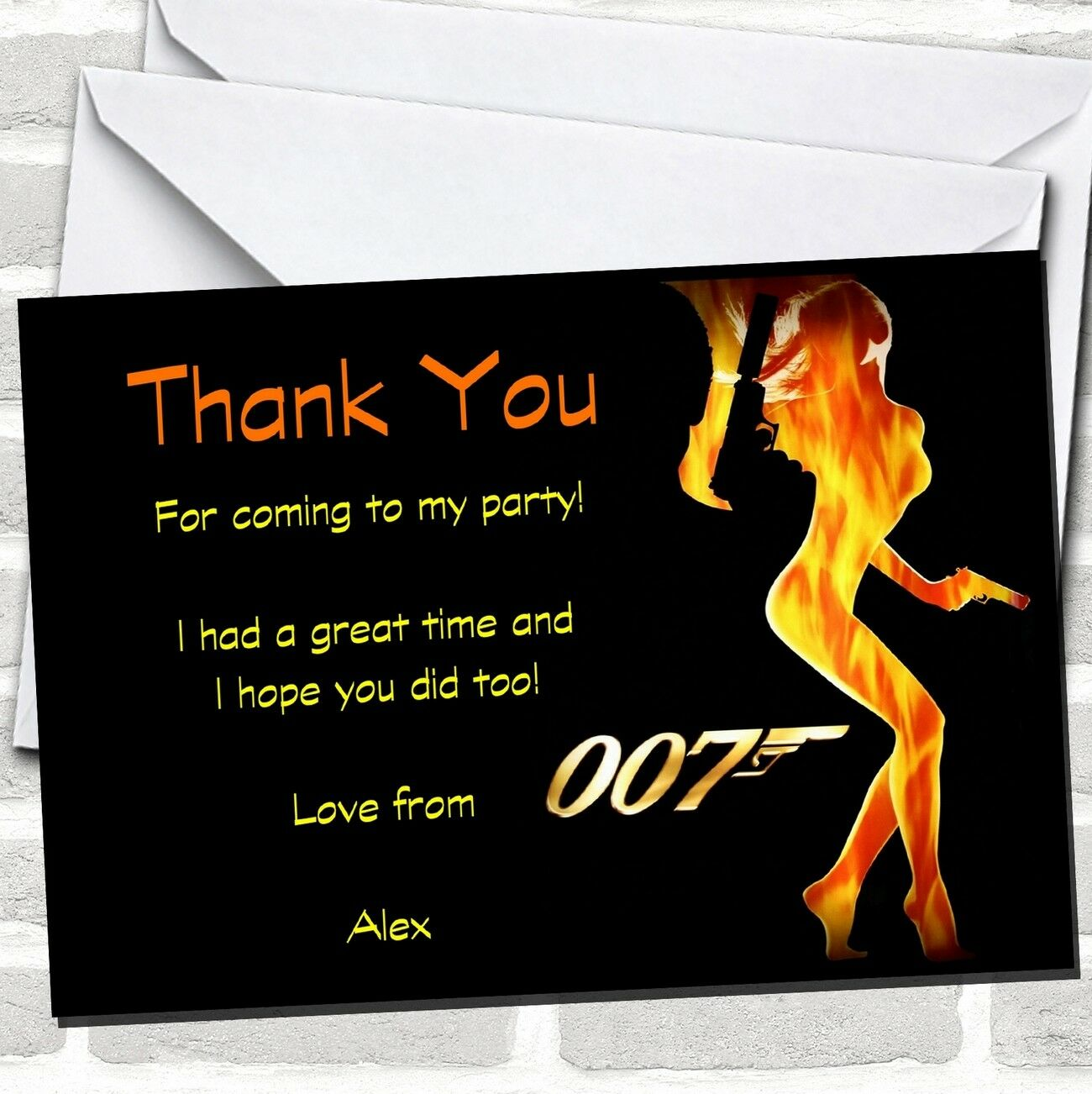 Bond Girl James Party Cards Thank You Ca79c7