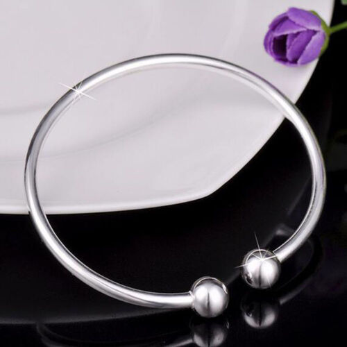 Gifts Silver Plated Adjustable Bangles Bracelet Mens//Womens Fashion Jewelry