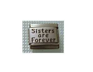 9mm-Italian-Charm-L16-Sisters-are-forever-Fits-Classic-Size-Bracelet