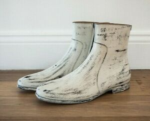 a4a194f3cfe Maison Martin Margiela x H&M Leather Hand Painted Ankle Boots Loafer ...