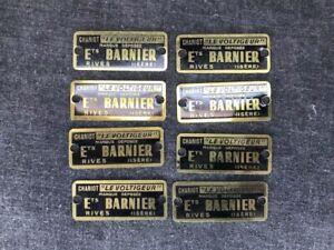 P-BARNIER-a-RIVES-ISERE-8-plaques-laiton-meuble-usine-atelier-loft-industriel
