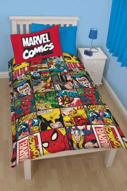 Marvel The Defenders Comic Parure de Lit Enfants Set Enfants 135x200 Neuf