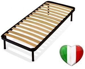 Rete per letto a doghe 80x200 singola con piedi prodotto italiano alta resistenz ebay - Piedi per rete letto ...
