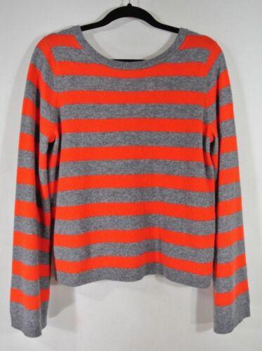 Størrelse Orange udstyr Stripe L Nyt Sweater I Baxley Grå Cashmere 0Ax8q