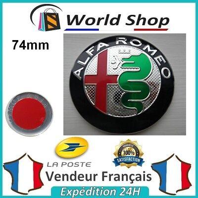 Embleme Capot Coffre Alfa Romeo 74mm Métal sigle emblem badge logo doré TB