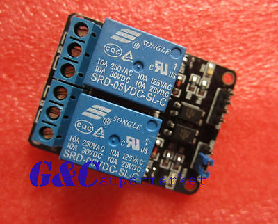2PCS 2 Channel 5V Relay Module with optocoupler for Arduino PIC ARM DSP AVR