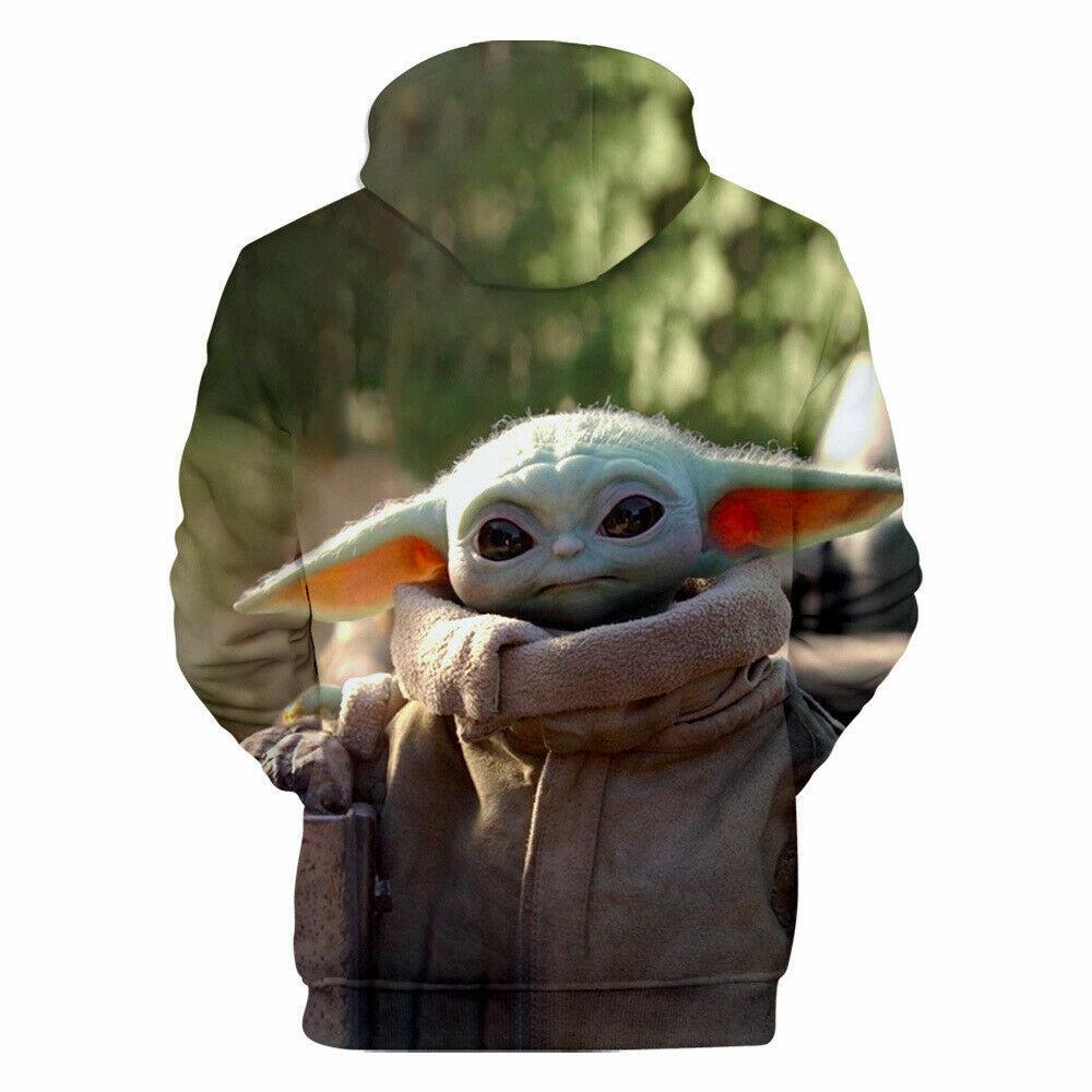 Star Wars The Mandalorian Baby Yoda Pullover Hoodie Jacket Coat 3D