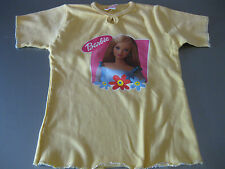 Barbie Shirt T-Shirt Gr. 4 (104/110) Gelb mit Motiv, Kurzarm, schön