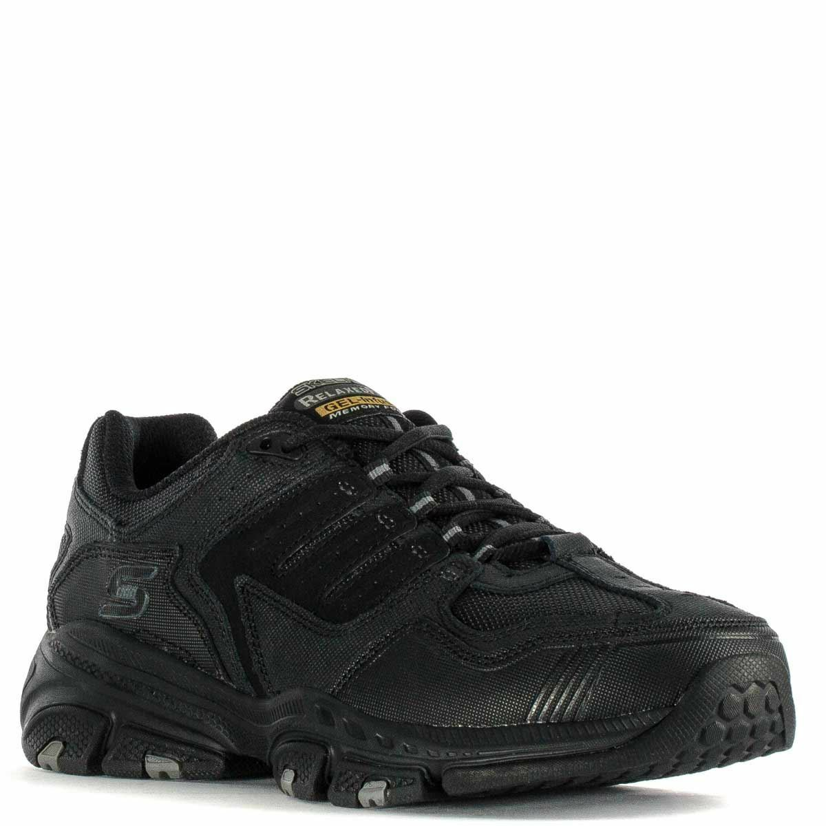 SKECHERS MEN'S SHOES RELAXED FIT CROSS COURT TR WIDE WIDTH BLACK 51270 WW BBK Cheap and beautiful fashion