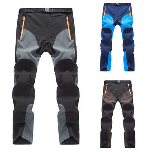 Mens-Outdoor-Soft-shell-Camping-Tactical-Cargo-Pants-Combat-Hiking-Trousers