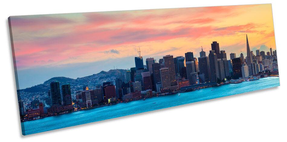 San Francisco Skyline Stadt Bild PANORAMA CANVAS Wand Kunst Drucken