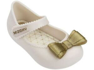 0f8f7613854cb3 Baby Girls Zaxy Ivory Enchanted Bow Soft Jelly Sandals Sizes UK Baby ...