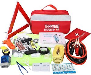 Auto Emergency Kit Set Car Tool Bag Vehicle Safety Kit Portable Roadside Temroad
