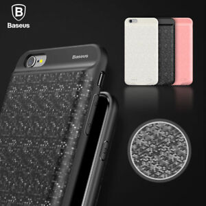 cheaper d2883 12fe4 Details about iPhone X Battery Case 8 7 7 Plus BASEUS Plaid Backpack Power  Bank For Apple