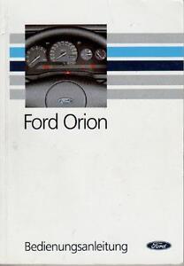 100% De Qualité Ford Orion Manuel 1990 Mode D'emploi Manuel Ba-ung 1990 Bedienungsanleitung Handbuch Ba Fr-fr Afficher Le Titre D'origine Usines Et Mines
