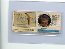 """1968 AMERICAN OIL """"WINNERS CIRCLE"""" BABE RUTH & GAY BREWER COMPLETE PANEL YANKEES"""