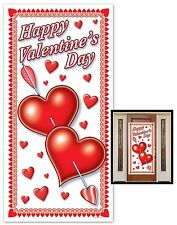 HAPPY VALENTINE'S DAY Plastic DOOR Wall COVER Party Heart Prop Decoration