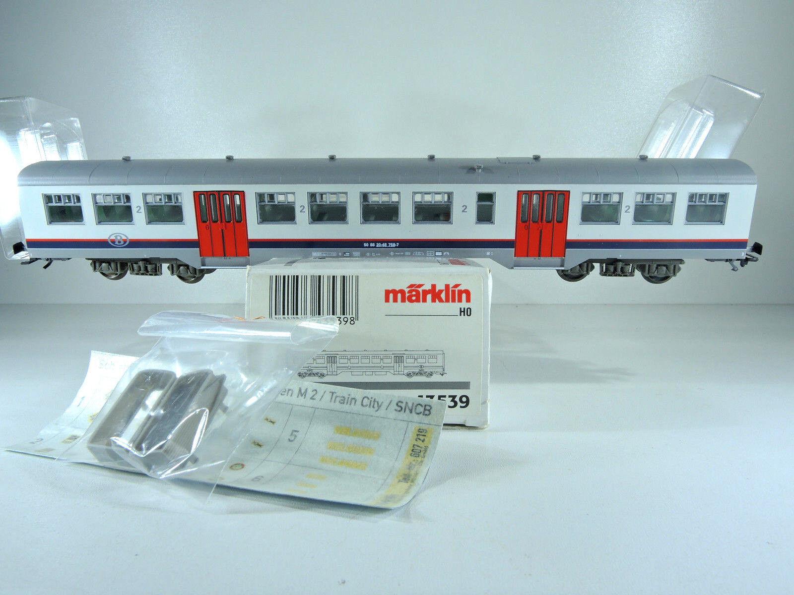 Märklin 43539 vehículos implicados, exposición auto m2 la SNCB, 2. clase, kkk, Top