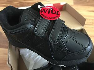 BLACK-NEW-BALANCE-KV624ABY-ATHLETIC-TRAINING-SHOES-KIDS-12-WIDE-UNIFORM-SCHOOL