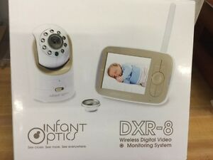 infant optics dxr 8 video baby monitor with interchangeable optical lens whit. Black Bedroom Furniture Sets. Home Design Ideas