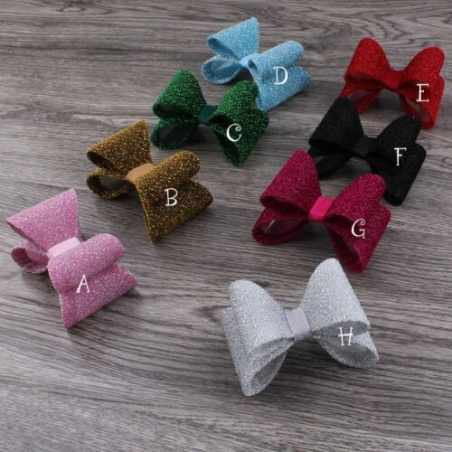 30pcs//lot 16colors Newborn Luxe Gold Dust Kids PVC Hair Bows no clips