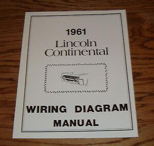 1961 lincoln continental wiring diagram manual 61 ebay rh ebay com