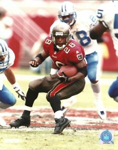 Warrick Dunn 8x10 Nfl Action Photo Ron Rice Tampa Bay Buccaneers Bucs Vs Lions Ebay