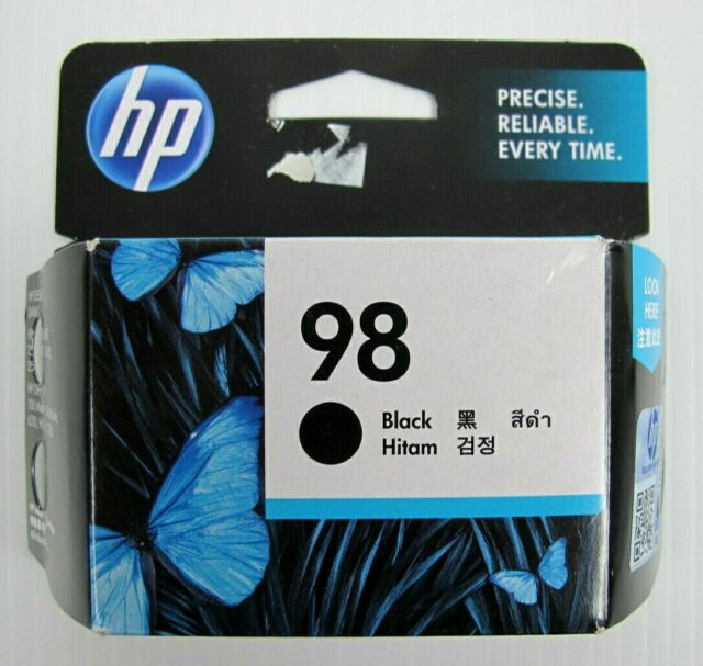 HP 98 BLACK Printer Ink Cartridge Sealed Expired Genuine C9364WA BK