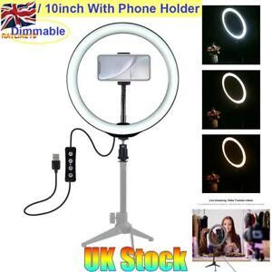 UK-10-034-LED-Studio-Ring-Light-Photo-Video-Dimmable-Lamp-Light-For-Camera-amp-Phone