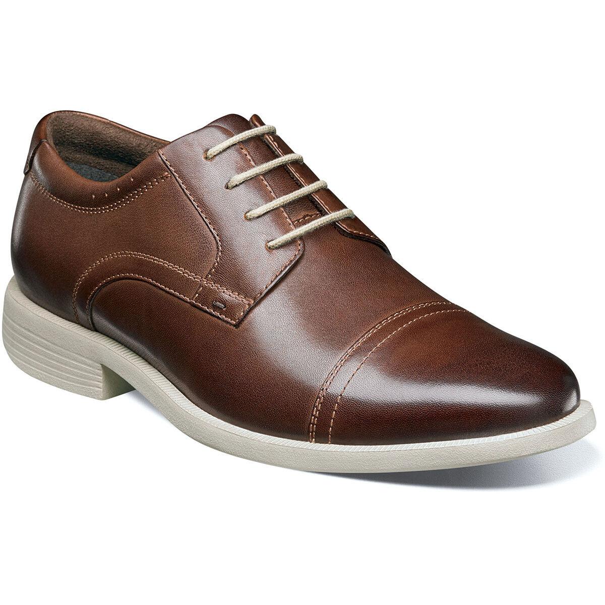 Hommes Chaussures Nunn Bush Dixon Cap Toe Oxford Marron Multi Cuir Confort 84724-249