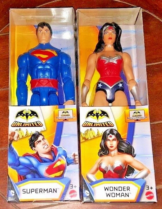 Batman Unlimited 12  Highly Poseable Action Figures  SUPERMAN + WONDER WOMAN