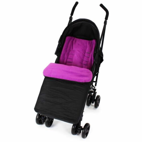 Footmuff Buddy Jet For Baby Jogger City Mini Double Stroller Black