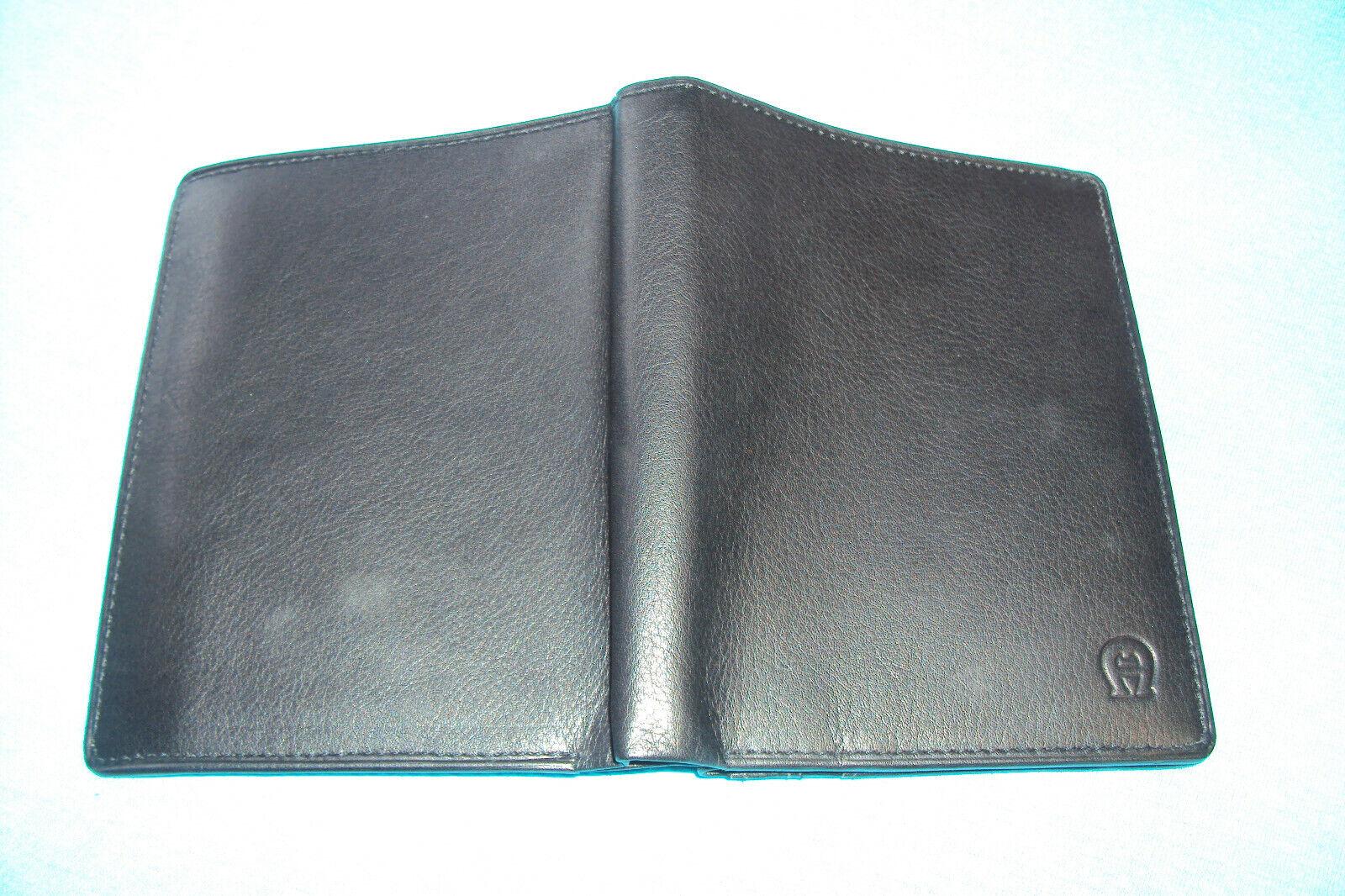 Aigner Purse Wallet Black NEW Portrait...