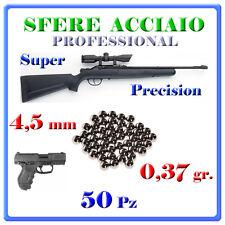 50 SFERE ACCIAIO 4,5mm PALLINI STELL BB .177 DIABOLO PELLETS CARABINA PISTOLA