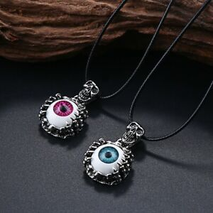 Punk/Goth/Rock Skeleton Skull Eye -  PU Leather Pendant Necklace