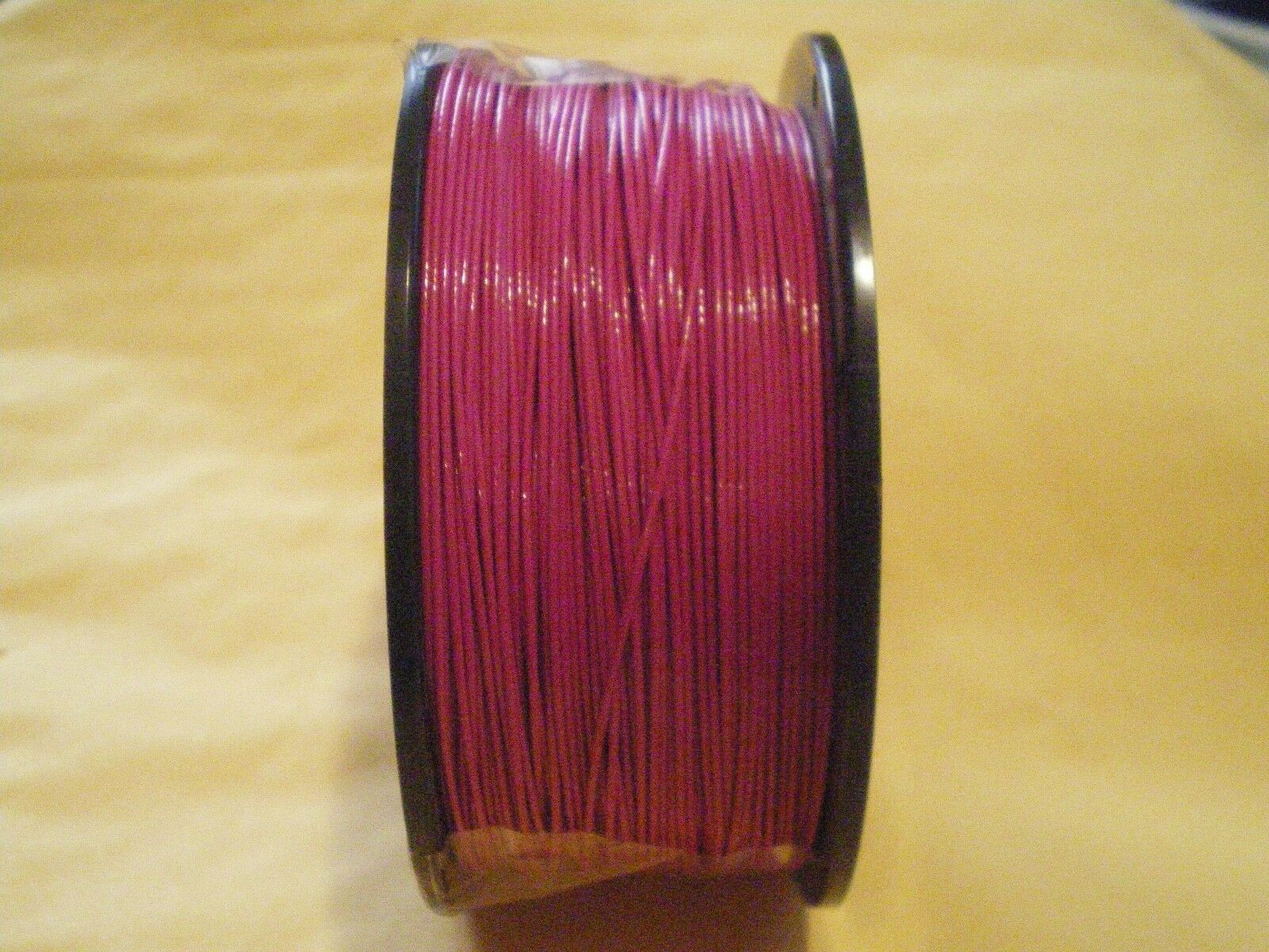STAINLESS S. LIGHT-RED WIRE LEADER 300 FEET, 90 LBS TEST 1X7 STRAND+100 SLEEVES