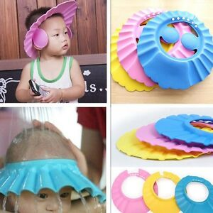 Kid-Safe-Bath-Soft-Hat-Shampoo-Shower-Caps-Wash-Hair-Children-Waterproof-Shield