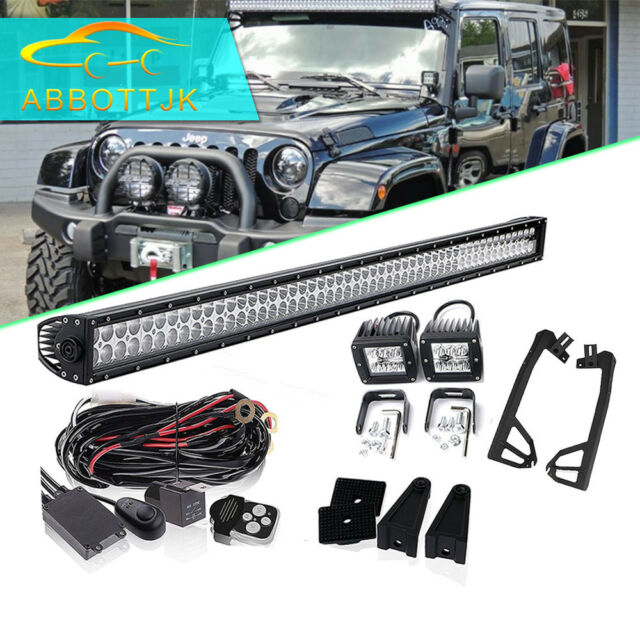 Strange 52 Led Light Bar 2X Fog Lights Wiring Harness Jeep Wrangler Tj 4Wd Wiring Digital Resources Nekoutcompassionincorg