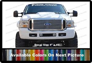 PowerStroke Turbo Diesel Front Windshield Banner Decal Fits Ford - Front window decals for trucks
