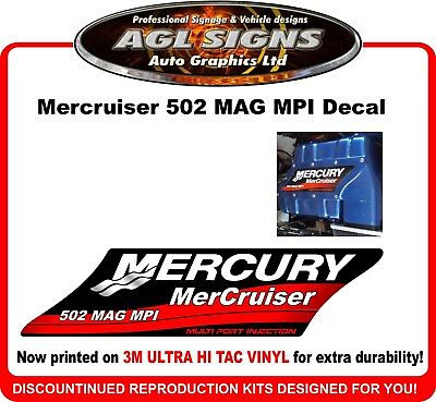 Mercruiser  502 MAGNUM MPI  Reproduction Manifold Decal  Multi Port Injection