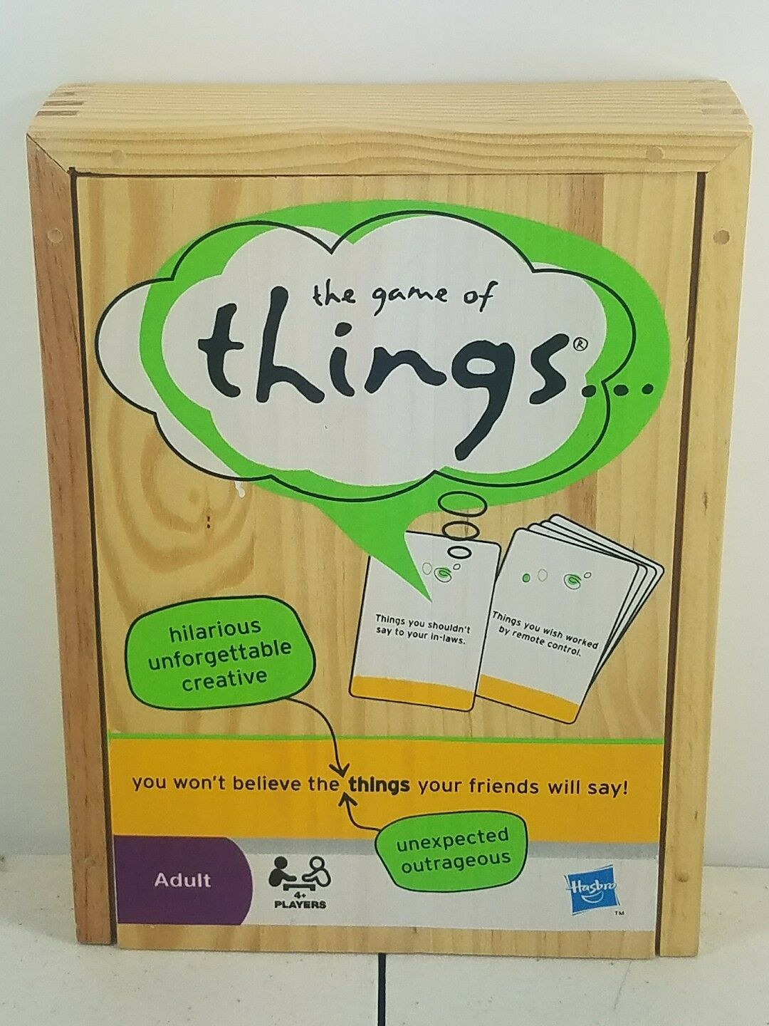 Parker Brothers The Game of Things Word Board Game B -  Wood Case - Adult B Game 557f96