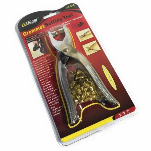 Grommet Tool Kit  Setting with 100 free Gold eyelets  VisKing Pro Tool